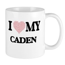 I Love my Caden (Heart Made from Love my word Mugs