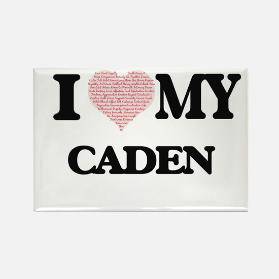 I Love my Caden (Heart Made from Love my w Magnets