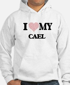 I Love my Cael (Heart Made from Hoodie