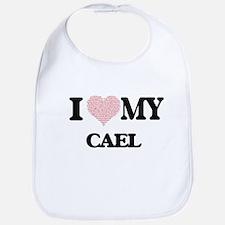 I Love my Cael (Heart Made from Love my words) Bib