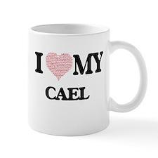 I Love my Cael (Heart Made from Love my words Mugs