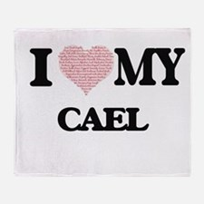 I Love my Cael (Heart Made from Love Throw Blanket
