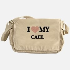 I Love my Cael (Heart Made from Love Messenger Bag