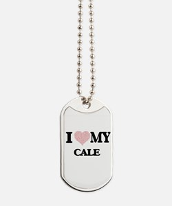 I Love my Cale (Heart Made from Love my w Dog Tags