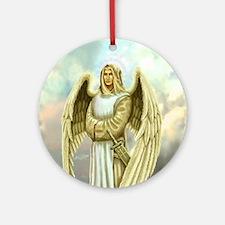 Unique Archangel michael Round Ornament