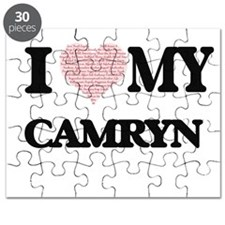 I Love my Camryn (Heart Made from Love my w Puzzle