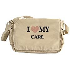 I Love my Carl (Heart Made from Love Messenger Bag