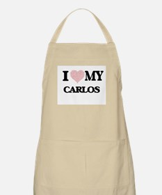 I Love my Carlos (Heart Made from Love my wo Apron