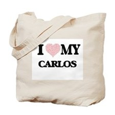 I Love my Carlos (Heart Made from Love my Tote Bag
