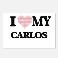 I Love my Carlos (Heart M Postcards (Package of 8)