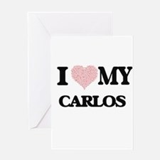 I Love my Carlos (Heart Made from L Greeting Cards