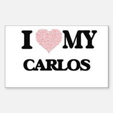 I Love my Carlos (Heart Made from Love my Decal