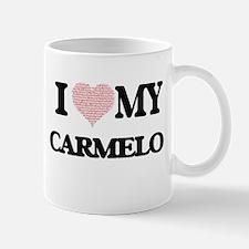 I Love my Carmelo (Heart Made from Love my wo Mugs