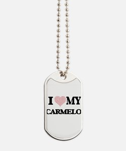 I Love my Carmelo (Heart Made from Love m Dog Tags