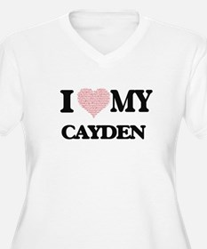 I Love my Cayden (Heart Made fro Plus Size T-Shirt