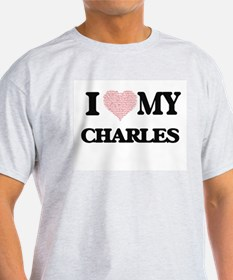 I Love my Charles (Heart Made from Love my T-Shirt