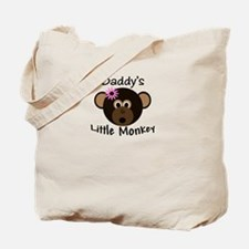 Daddy's GIRL Little Monkey Tote Bag