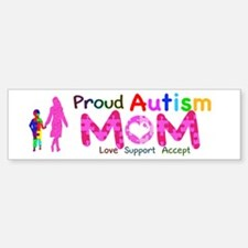 Proud Autism Mom Sticker (Bumper)