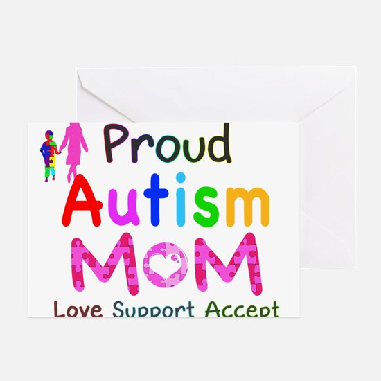 Proud Autism Mom Greeting Card