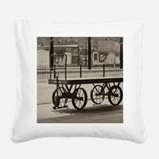 Luggage Truck Square Canvas Pillow