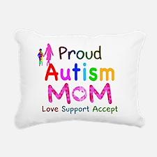 Proud Autism Mom Rectangular Canvas Pillow