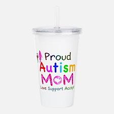 Proud Autism Mom Acrylic Double-wall Tumbler