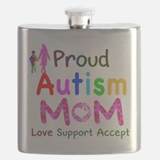 Proud Autism Mom Flask