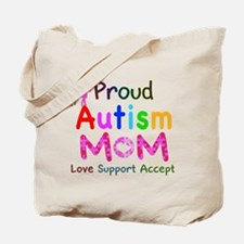 Proud Autism Mom Tote Bag