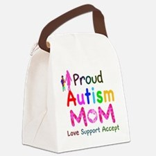 Proud Autism Mom Canvas Lunch Bag