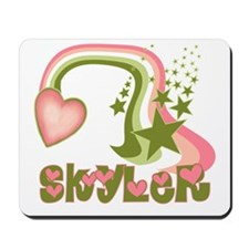 Rainbows & Stars Skyler Personalized Mousepad