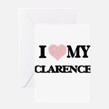 I Love my Clarence (Heart Made from Greeting Cards
