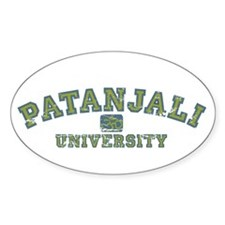 Green/Blue Patanjali University Oval Decal