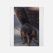 Squirrelin' Around Throw Blanket
