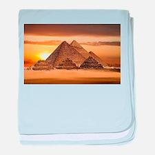 Egyptian pyramids baby blanket