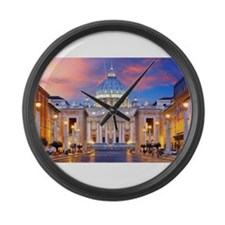 Vatican Rome Italy Large Wall Clock