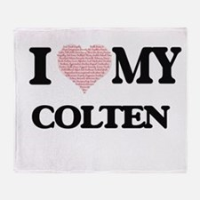 I Love my Colten (Heart Made from Lo Throw Blanket