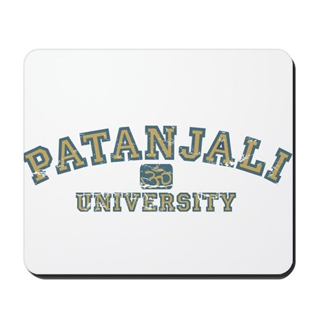 Blue/Yellow Patanjali University Mousepad