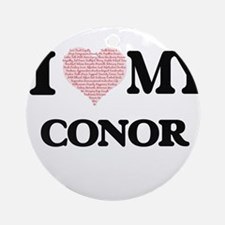 I Love my Conor (Heart Made from Lo Round Ornament