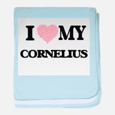 I Love my Cornelius (Heart Made from baby blanket