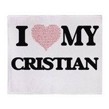 I Love my Cristian (Heart Made from Throw Blanket