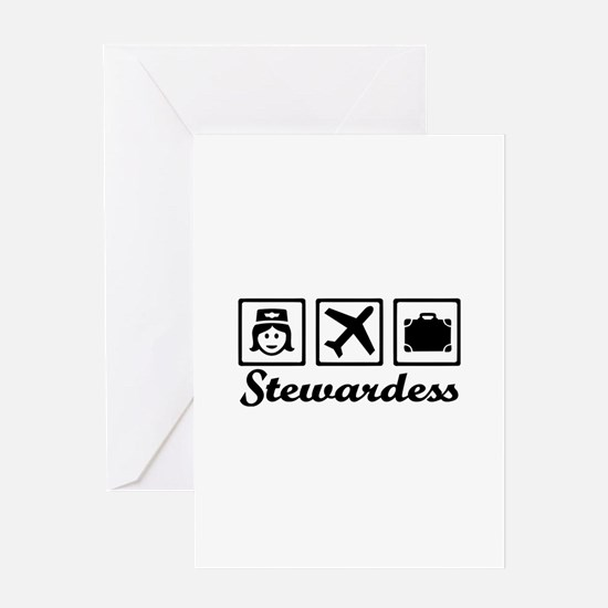 Stewardess airplane Greeting Card
