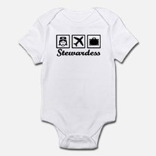 Stewardess airplane Infant Bodysuit