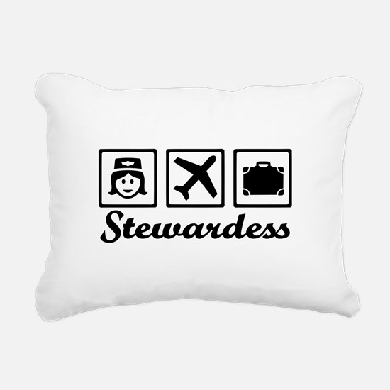 Stewardess airplane Rectangular Canvas Pillow