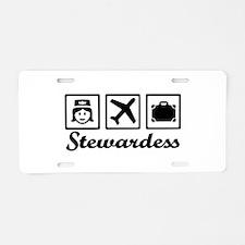 Stewardess airplane Aluminum License Plate