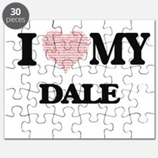 I Love my Dale (Heart Made from Love my wor Puzzle