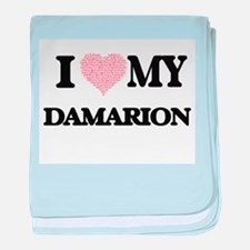 I Love my Damarion (Heart Made from L baby blanket