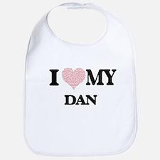 I Love my Dan (Heart Made from Love my words) Bib
