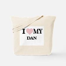 I Love my Dan (Heart Made from Love my wo Tote Bag