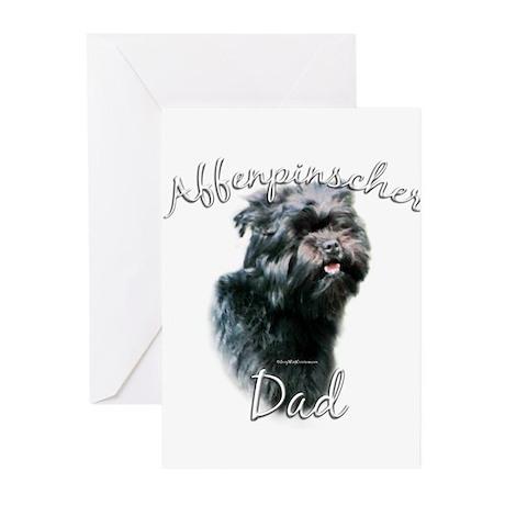 Affenpinscher Dad2 Greeting Cards (Pk of 10)