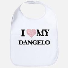 I Love my Dangelo (Heart Made from Love my wor Bib